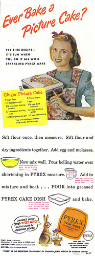 Vintage cake ad